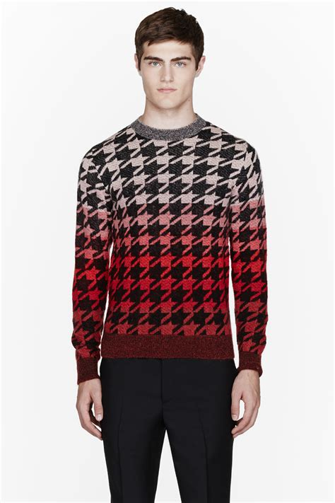 Ombre Mohair Sweater Black paul smith pink ombre mohair pied de poule sweater in