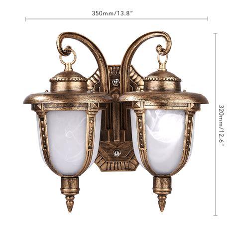 vintage outdoor lighting ebay retro vintage antique bronze 2 light exterior wall lantern