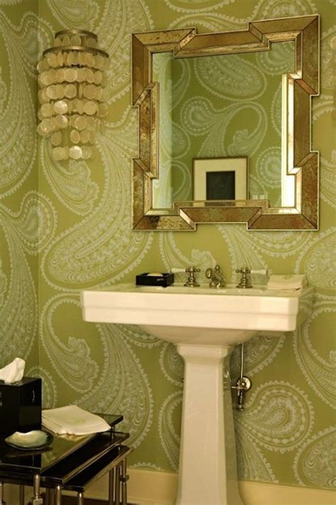 wallpaper for powder room just a touch of gray wallpaper powder rooms