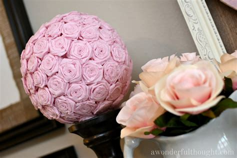 How To Make Crepe Paper Flower Balls - diy crepe paper flower a wonderful thought