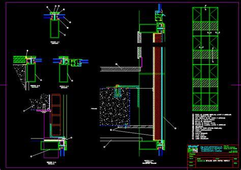 muro cortina dwg planos de casas planos de construccion