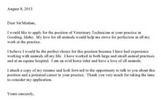 Cover Letter For Vet Tech by Best Photos Of Veterinary Technician Resume Cover Letter Vet Tech Cover Letter Veterinary
