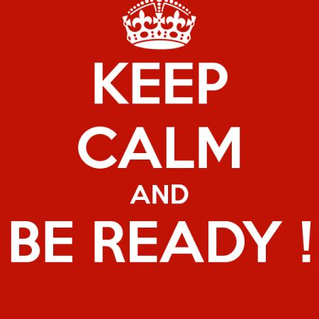 be ready??? – crofton parish