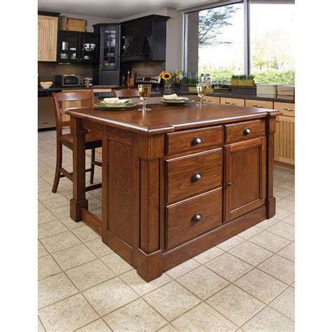 aspen kitchen island home styles aspen kitchen island 3 pc set kitchen storage home appliances shop the exchange
