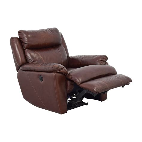power recliner chairs leather 61 off macy s macy s brown leather power recliner chairs