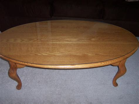 solid oak heritage house oval coffee table nepean ottawa