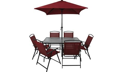 miami 8 patio set garden furniture george at asda