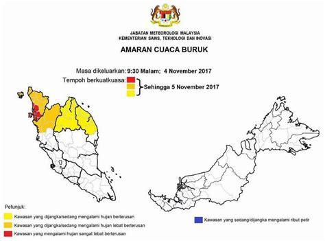 malaysia new year weather met malaysia weather warning at penang kedah