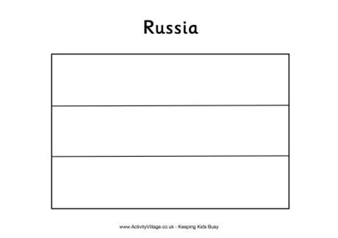 russia flag colouring page