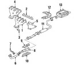 Diagram Of Exhaust System For Honda Civic 1993 Honda Civic Sol Parts Discount Factory Oem