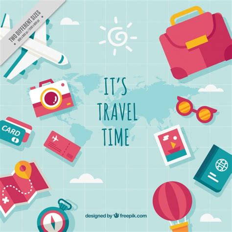 Elements Of My Vacation by Travel Vectors Photos And Psd Files Free