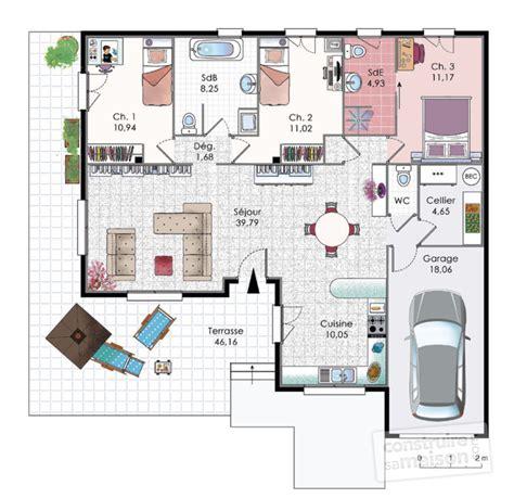 Creole House Plans by Villa Bbc D 233 Tail Du Plan De Villa Bbc Faire Construire