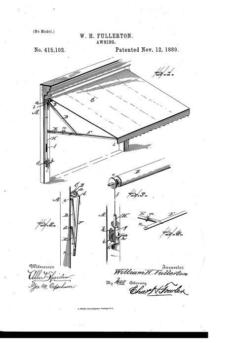 awning drawing patent us415102 awning google patentsuche