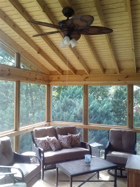 deck ceiling cost screened porches archadeck of central ga