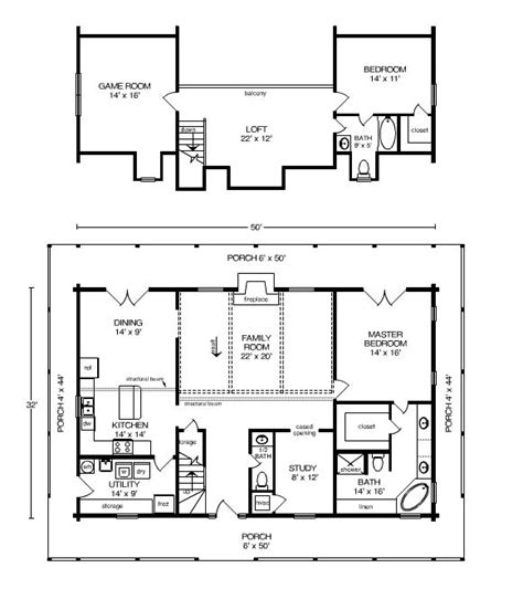 log home plan by satterwhite log homes