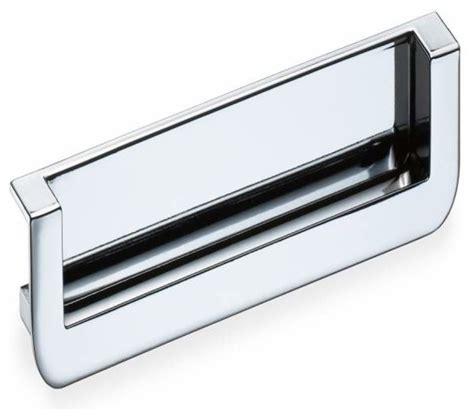 contemporary drawer pulls chrome schwinn hardware 5 inch ctc flush pull polished chrome