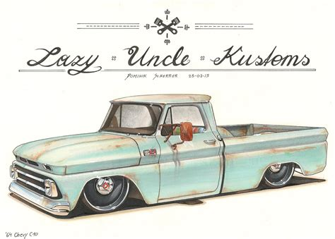 1965 chevy truck drawing pictures to pin on pinterest