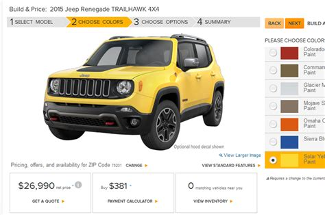 Build A Jeep Renegade 2015 Jeep Renegade Build Your Own Feature Goes