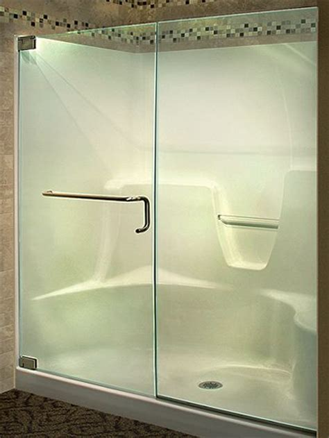 Frameless Shower Doors For Fiberglass Showers by Fiberglass Shower Bathroom Remodels Shower