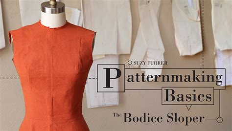 pattern making books for fashion design pdf how to make a bodice sloper patternmaking basics craftsy