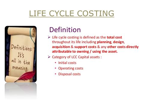 definition for biography life cycle costing