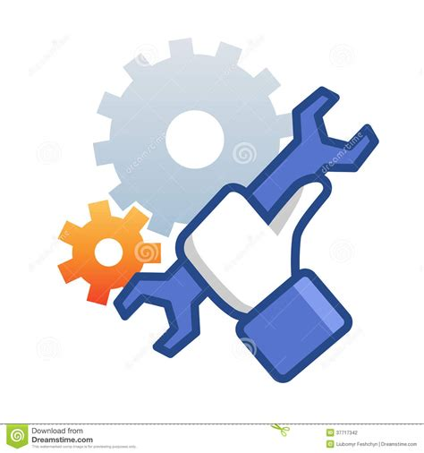 Home Design 2d Free by Maintenance Icon With Hand Wrench Stock Photography