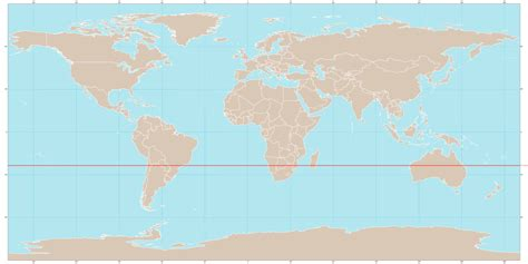 map world equator line countries tropic of capricorn
