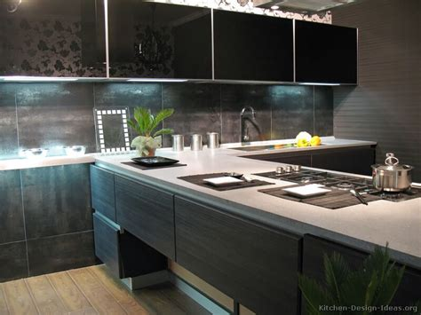 modern kitchen dark cabinets kitchen idea of the day modern dark wood kitchen with