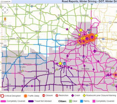 mndot traffic map maps update 600338 mn dot travel map road construction