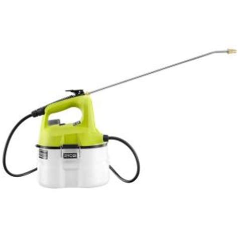 home depot cordless paint sprayer ryobi one 18 volt lithium ion cordless chemical sprayer