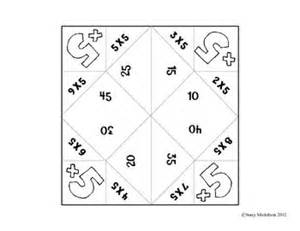 Multiplication Fortune Teller Template by Cootie Catcher Multiplication Set Catcher And