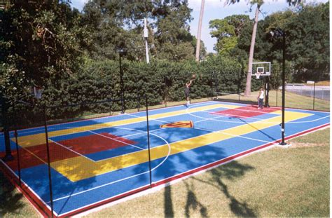 backyard sport courts sport court east colorful game court