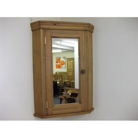 corner bathroom cabinet with mirrored door w51cm