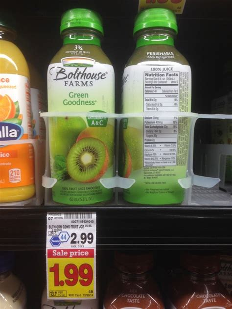 Bolthouse Juice Detox by Green Goodness With Kiwi Apple And Mango From Bolthouse