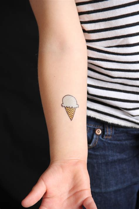 ice cream tattoos and we play diy for kids