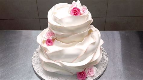 beautiful ruffle wedding cake how to decorate by cakes