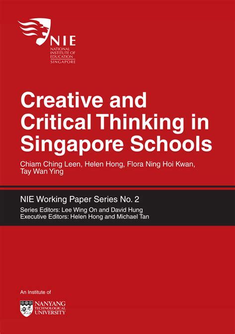 school basics a preview of school and reasoning books creative and critical thinking in singapore schools pdf