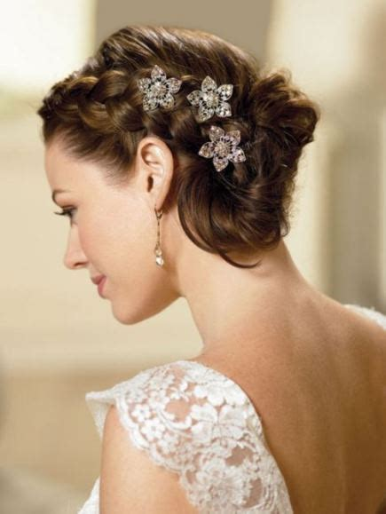 romantic updo for inverted triangle 15 chic wedding hair updos for elegant brides