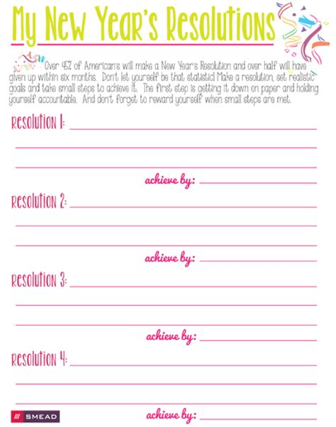 Checklist: My New Year's Resolutions