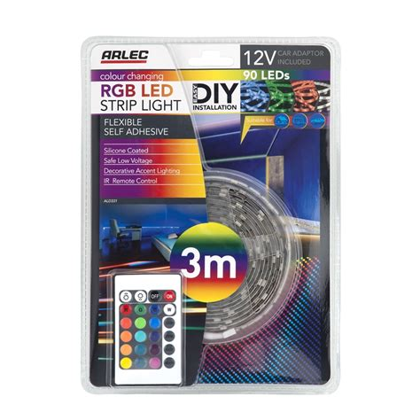 3m Led Light Strips Arlec 3m Silicone Coated Rgb Led Light Bunnings Warehouse