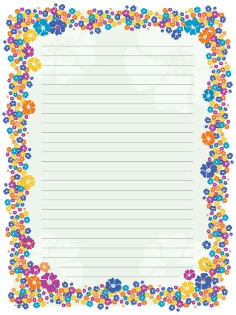 pattern of writing essay blank paper flowers stationery borders for adults
