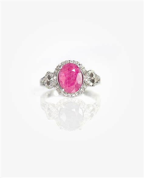 01 Pink Ruby pink ruby ring huongs jewellery ruby silver ring collection