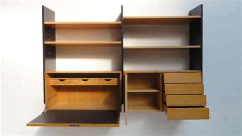 scandinavian mid century modern modular wall mounted desk