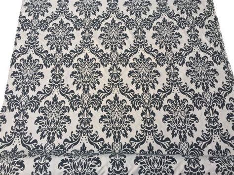 prestige curtain fabric taupe beige damask fabric victorian velvet flock silk
