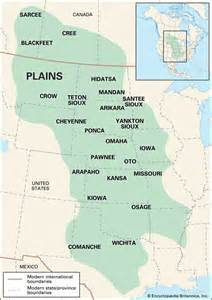 plains of map americans plains culture area encyclopedia