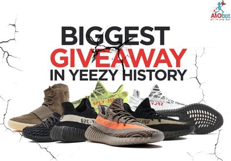 Yeezy Giveaway - aiobot s yeezy giveaway enter the biggest giveaway ever