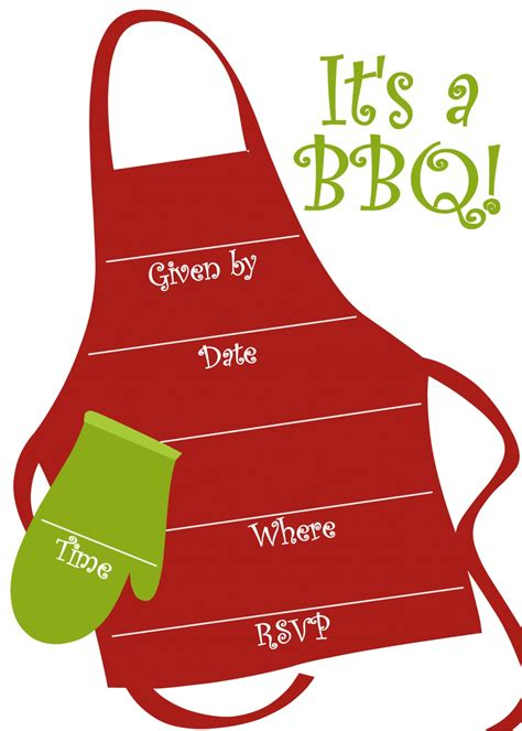 barbecue invite template free bbq invitations templates hubpages