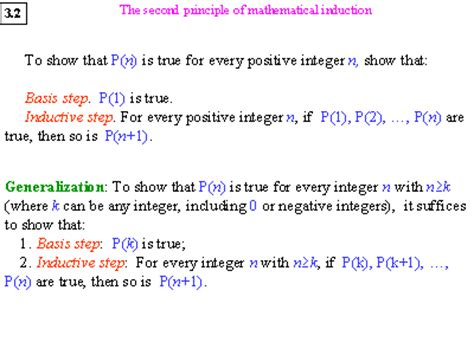 principle of induction math the second principle of mathematical induction