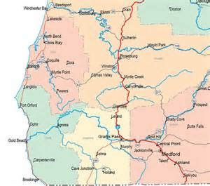 oregon map brooking oregon map images