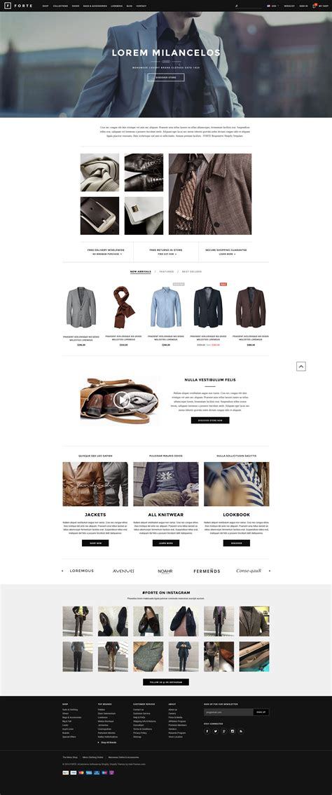 shopify themes for t shirts forte responsive shopify template halothemes com